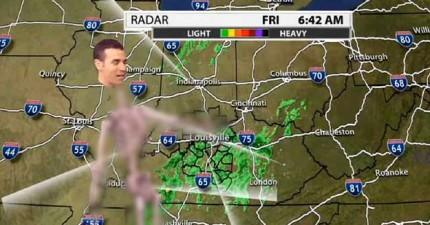 咦...我今天早晨看的天氣預報怎麼有點奇怪...OMG是骷顱人在播報?!