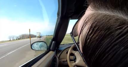 這名男子開車時忽然昏過去,行車記錄器都把整個車子自己亂開的玩命過程都拍下來了!