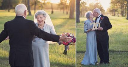 老夫妻等了「70年」才拍婚紗照!「最浪漫感情」攝影師都忍不住問到「美滿婚姻秘訣」!