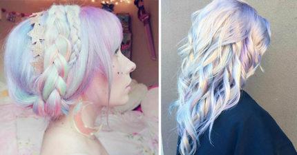 披頭散髮也像仙女 28張超夯天使少女風「迷霧獨角獸夢幻髮色」!