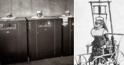 23張讓人質疑過去人類是怎麼活過來的「老醫療照片」 過去的輪椅超難操作!