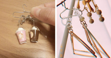 耳環老是少一個...「耳環衣架」4步驟打造迷你曬衣場 材料只需要一包迴紋針!