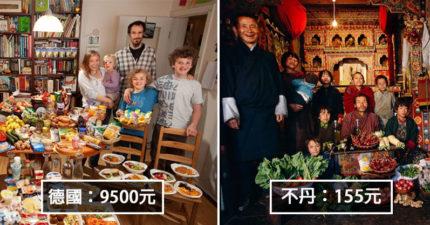 8個國家的家庭「一星期吃掉多少錢」差距太驚人 他們一家6口只花「台幣38元」!