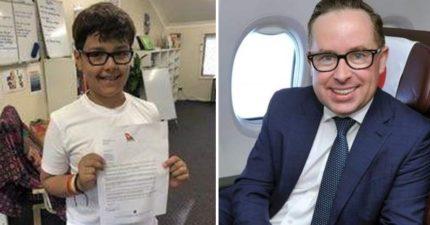 10歲小男孩寫信詢問「請教我開公司的秘訣」 澳航大老闆親回:想跟你來場CEO的約會!