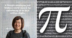 天才妹算出圓周率「小數點後第31.4兆進位」 Google為員工祝賀:這是她12歲的夢想