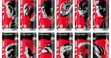 日本推「復仇者聯盟4」限定版可樂 超犯規「紅黑白輪廓」讓漫威粉破產了!