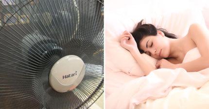 專家公布「睡覺時開電扇」的4大嚴重影響 震驚全網:難怪醒來會鼻塞!