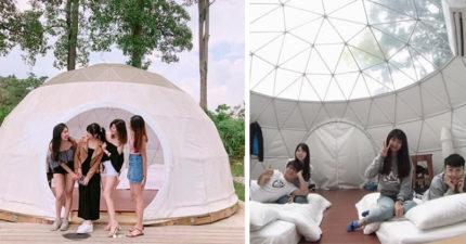 就在台南!北歐風「星空露營園區」網路爆紅 超美純白「觀星帳篷」想立馬訂房了~