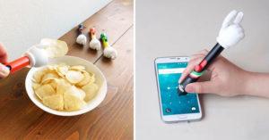 日本推創意「洋芋片觸控手」攻懶人市場!邊吃邊滑「不怕髒」網友瘋推:追劇必備