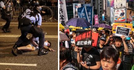出動催淚彈!香港最大規模103萬人「反送中遊行」震撼世界 一旦通過「台灣人也受害」下場超嚴重