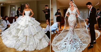 國外盤點TOP20「當今世上最美的婚紗」 凱特那件還不是最好看的!
