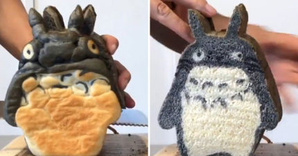 影/日本神人做出「卡通造型麵包」看起來超醜 切一刀下秒畫面「美到像原作」!
