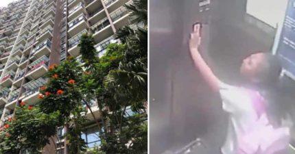 9歲女童獨自受困…電梯一路從「19樓掉下去」 她靠「一個動作」撿回一條命!