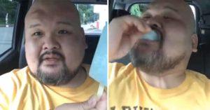 影/日網紅挑戰「一口吃完整支冰棒」 3秒後「他臉上超可怕畫面」把網友全嚇壞!