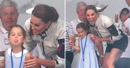 影/凱特叮嚀「向觀眾揮手」道別 小公主竟「叛逆吐舌」嚇壞眾人…馬上帶下去處理!