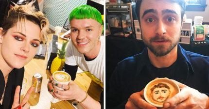 天才繪圖師「用美味咖啡」收服名人 梅莉史翠普嚇翻:真的超強!