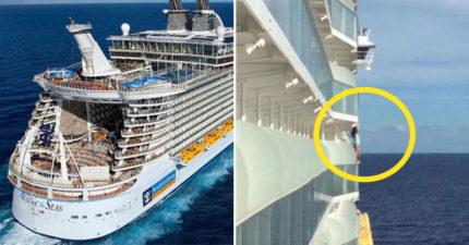 差一步掉海!女子搭遊輪「跨越欄杆自拍」嚇壞眾人 下秒「超慘結果」被嗆活該