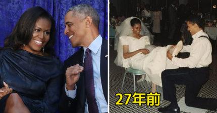 歐巴馬夫婦發文慶祝「結婚27周年」!他甜蜜喊「我的寶貝」閃瞎全網:最完美的模範夫妻