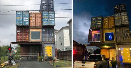 好想住進去!他用「11個貨櫃」建房子被人笑 但一看屋內「超猛裝潢」酸民臉都腫了