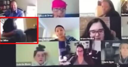 影/在家工作請注意!傻妹開完線上會議「大便忘記關鏡頭」同事表情超精采