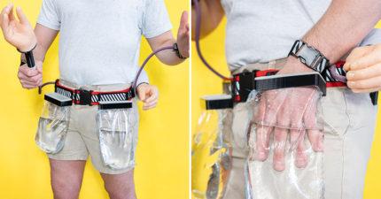 「廢物發明大師」推新產品「隨時洗手器」後面插那2根超實用!