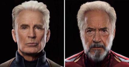 模擬「初代復仇者變老」細節超驚人 爺爺版索爾比年輕還帥!
