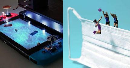 攝影師靠小人偶讓「日常物有新生命」 相機「變洗衣機」太有創意!
