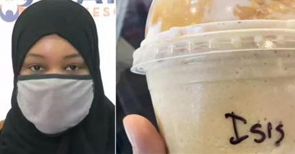 穆斯林女買星巴克「被寫ISIS」嘲笑 店長硬辯:寫錯名字!