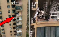 豆腐渣工程!大樓遇颱風「整面牆被吹走」客廳全看光光