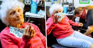 103歲阿嬤「挑戰刺青」慶祝長壽 下個「願望清單」年輕人超愛