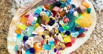 正妹花半生蒐集海灘寶物 挖出「不存在歷史上」的200年古物
