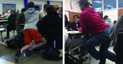 老師們上課的「超神奇姿勢」 幾何學老師「必修姿勢」太難懂!