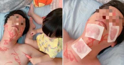 哄女兒睡覺「反被哄睡著」 媽撞見「案發現場」...網笑翻:女兒好貼心