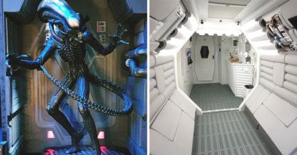 《異形》鐵粉神改造「公寓→飛船」 粉絲敲碗「求開放參觀」