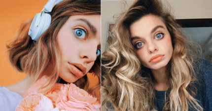 精靈系正妹「娃娃大眼」被懷疑 她PO「多角度照」證沒P圖:真的超立體!