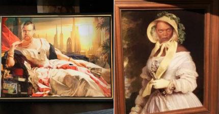 他把家中畫偷渡成「星戰版本」 看老婆何時發現