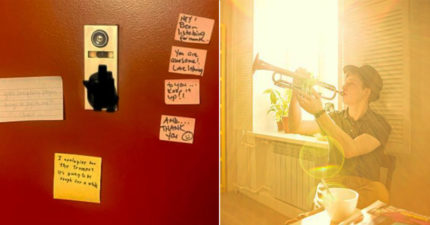 他在家「狂吹喇叭」發現吵死鄰居 隔天收到「誠心評論」吹更兇!
