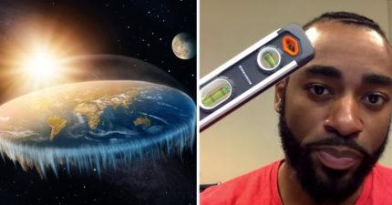 我們都被騙?天兵男搭機做測試 見「水平儀不動」得出超扯結論:地球是平的