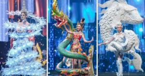 泰國選美「超狂家鄉服走秀」 泰版「牛魔王」好霸氣、水上市集直接搬舞台!