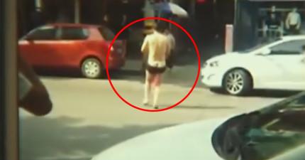 中國這名男子穿著內褲在大街上奔跑,只為了找回「在賓館被情人喀擦的命根子」?!