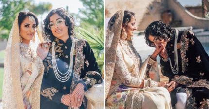 印度巴基斯坦「彩虹聯姻」 跨越「國籍、性別與宗教」萬人獻祝福!