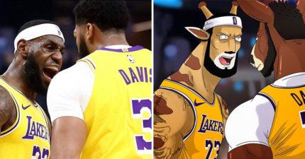 瘋狂粉絲把「NBA巨星」變成動物 「詹皇長頸鹿」比老虎還霸氣