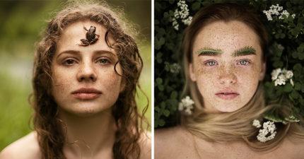 19張「正妹和大自然結合」的夢幻照 蒲公英是最美眼影!