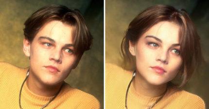 藝術家用P圖把「李奧納多變女人」 不同角度都「撞臉艾瑪華森」!