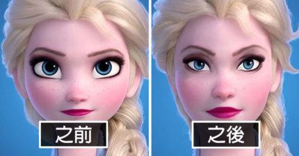 迪士尼公主「打回凡人」眼睛小一圈 「長髮公主」比原版還正!