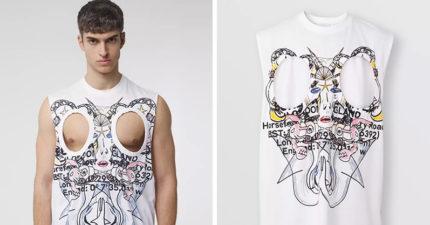 Burberry推新品「不包二奶」T恤!還有「肚子挖空版」爽曬6塊肌