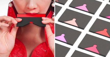 懶人化妝!設計師打造創意「卡片口紅」 超多款色系「一抿就上妝」
